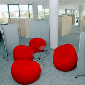Kobercové čtverce - kanceláře Microsoft